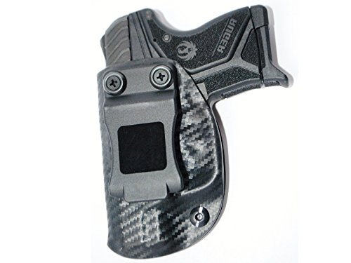 Black Jacket Holster IWB KYDEX Holster: fits Ruger LCP II (2) (Carbon Fiber Black - Left Hand)