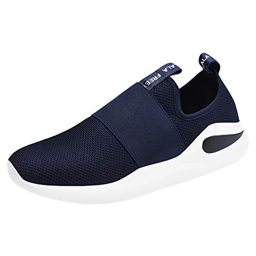 Dreamyth-Shoes Zapatos Casual para Hombre, con Letra de Malla, sólida, elástica, para Correr,…