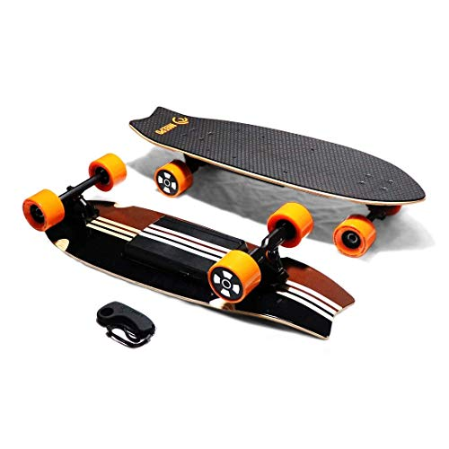 Meepo Board Electric Skateboard Campus 2.0 (13 Mile Range & 18 Mph Speed), Wood