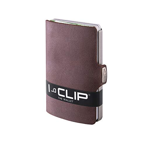 I-CLIP Original Silver Soft Touch Brown, Geldbörse, Kartenetui, Wallet