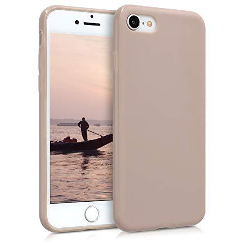 kwmobile Hülle kompatibel mit Apple iPhone 7/8 / SE (2020) - Hülle Silikon - Soft Handyhülle - Handy Hülle in Creme matt