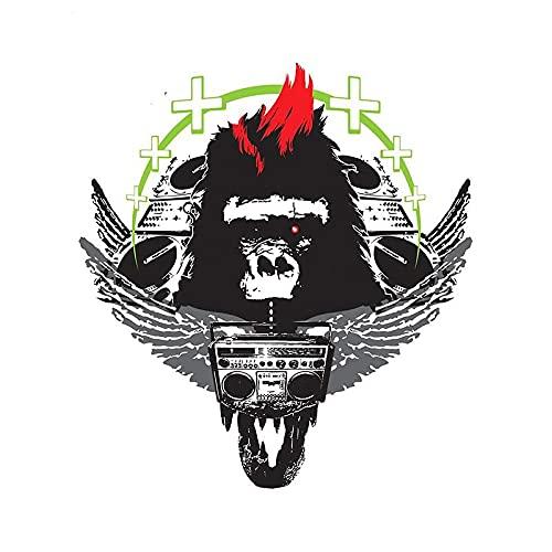 A/X 13 cm 12 0 cm para Negro King Kong Pegatinas de Coche Parabrisas Laotop calcomanía Motocicleta de Dibujos Animados