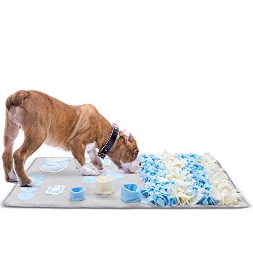 Fida Dog Snuffle Mat for Small Medium Large Breed, Puppy Treat Feeding Mat for Foraging, Training Mats Pet Activity/Toy/Play Mat, Machine Washable- Perfect for Stress Release,