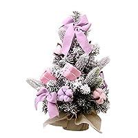 [SU SIZE] Disponibile in 3 misure, 30/40 / 50cm (12/16 / 20inch), piccolo e squisito, è perfetto per la vostra scrivania o un tavolo, in ogni luogo adatto per la decorazione di Natale Festival .. [MATERIALI PREGIATI] Il nostro albero di Natale è real...