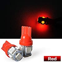 LED 24V T10 T16 5SMD レッド 赤 Red ウェッジ バルブ 5SMD 5連 5050 SMD 1個 トラック 24V用 ウィンカー ライト 相当5連 超高輝度 車用ライト・ランプ
