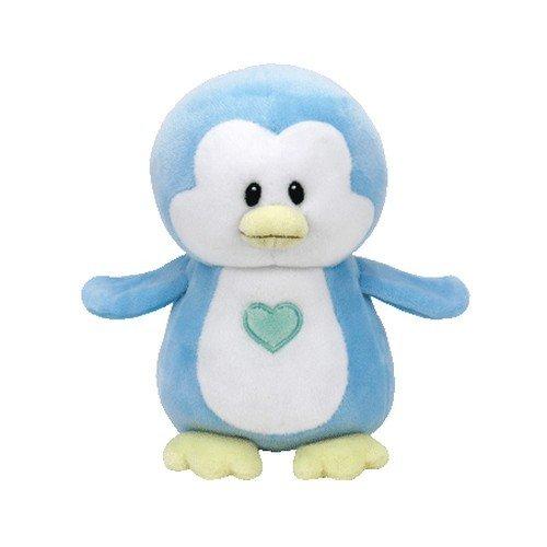 TY T32158 Penguin Baby Plüsch-Twinkles Pinguin, 17 cm, hellblau