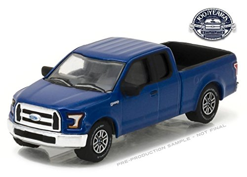 New 1:64 GREENLIGHT ANNIVERSARY SERIES 5 COLLECTION - Blue 2016 Ford F-150 Pickup - Ford Trucks 100 Years Diecast Model Car By Greenlight
