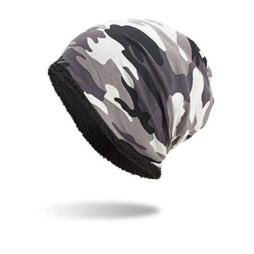 SwissWell Mützen Herren Damen Dünn Slouch Beanie Camouflage Kopfbedeckung für Sport, Chemo, Haarausfall, Schlaf Weiss