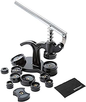 Watch Press Set Back Case Closer,Eventronic 14pcs Watch Case Closer 18/21/24/28/31/33/36/40/44/50mm dies Watch Repair Kit  black .