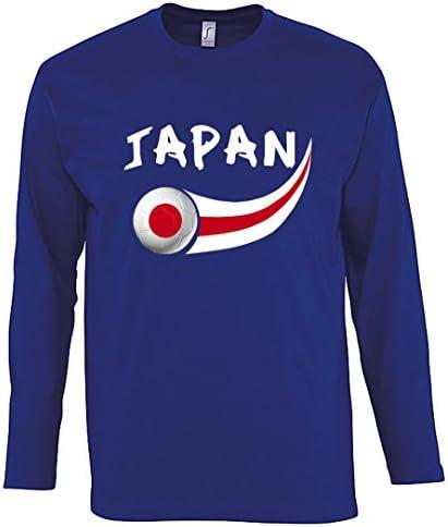 Supportershop Tshirt Japan LS koningsblauw heren FR S maat fabrikant S