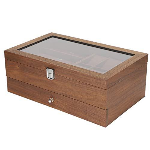 Caja de almacenamiento de relojes, vitrina de relojes, resistente al desgaste, no se deforma para relojes, gafas, joyería para el hogar