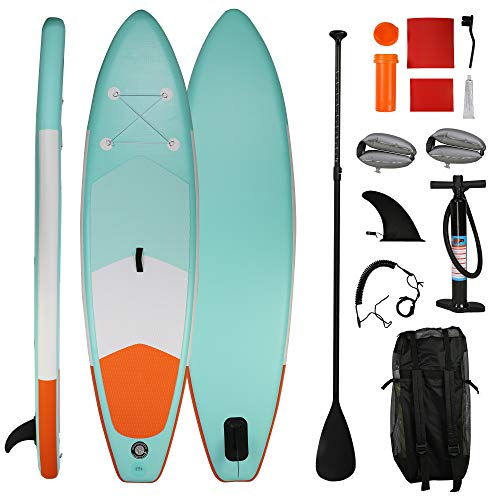 LUCKYERMORE Inflatable Paddle Boards Ultra-Light Stand Up Paddle Board 10' Long 6