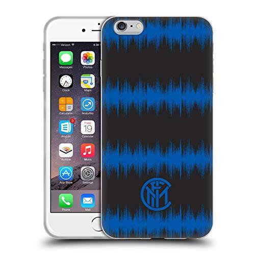 Head Case Designs Licenza Ufficiale Inter Milan Audio Wave Grafici Cover in Morbido Gel Compatibile con Apple iPhone 6 Plus/iPhone 6s Plus