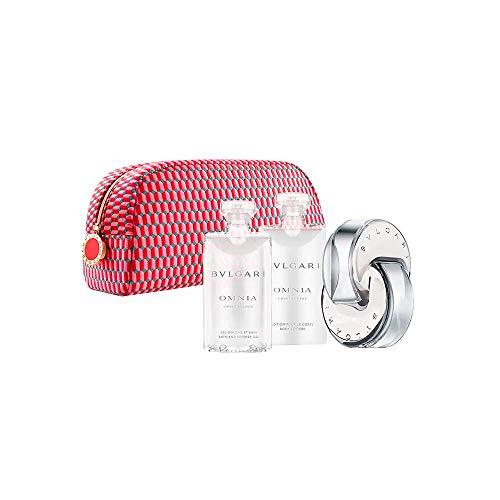 Bvlgari Omnia Crystalline 65ml eau de toilette + 75ml Body Lotion + 75ml Shower Gel + Pouch