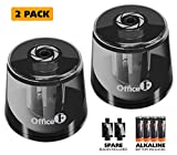Best Battery Operated Pencil Sharpeners - OFFICE1ST Battery Operated Pencil Sharpener 2 PACK, Double Review