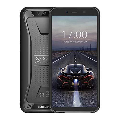 Móvil Resistente (2020), Blackview BV5500 Pro Telefono Móvil Antigolpes, 5.5 Pulgadas, 3GB+16GB, Batería 4400mAh, Android 9.0, Dual SIM 4G, 8MP+5MP+0.3MP Smartphone Impermeable IP68, NFC/GPS-Negro