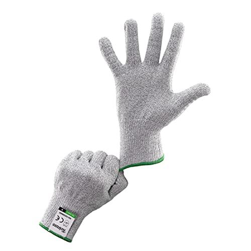 Twinzee Schnittschutzhandschuhe - Extra Starker Level 5 Schutz, Lebensmittelecht, EN 388 Zertifiziert, Schnittfeste Handschuhe, Arbeitshandschuhe, für Küche, im Garten - 1 Paar M