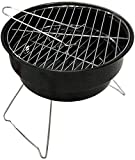 WGFGXQ Portable Barbecues Grills Folding Fire Pit Ceramics Brazier Heater Multifunctional Camping Bowl BBQ for Backyard,Camping,Picnic,Bonfire,Garden
