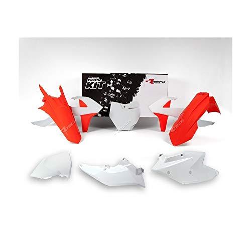 Motodak Kit Plastique RACETECH Factory Edition Orange/Blanc KTM