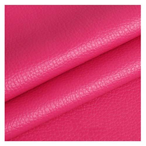 wangk Polipiel Tela De Cuero Manualidades de Polipiel para tapizar Tela De Cuero Sintético PU Venta de Polipiel por Metros Ancho 1,6 m Multicolor-Rojo Rosa 1.38×2m