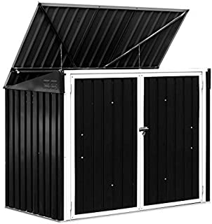 Taltintoo20 Horizontal Storage Shed 68 Cubic Feet Material Color Plate Galvanized Sheet for Garbage Cans Great Place for Garbage Cans, Garden Crafts, Pool Supplies and Other Items.