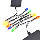 USB and Bulb Charger, LED Christmas Lights Charging Cable,Durable, Portable,Compatible with iPhone 5 5s 6 6plus 6s 6s Plus 7 7plus 8 8plus X XR XS XS Max 11Pro Max etc 2pack