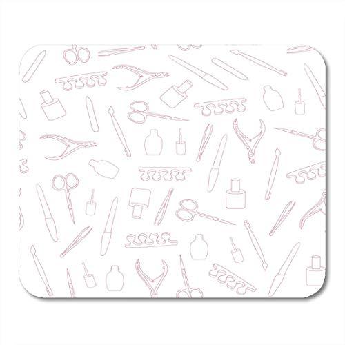 Mauspad rosa muster maniküre werkzeuge auf nagel salon pediküre beauty mousepad für notebooks, Desktop-computer mausmatten