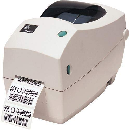 Zebra TLP2824 Plus Thermal Transfer Desktop Printer for Labels, Receipts, Barcodes, Tags - Serial and USB Port   Build your Own Kit (Renewed)