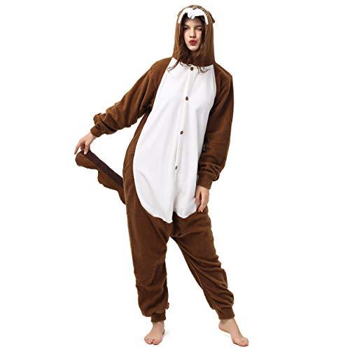 Katara 1744 (30+ Designs) Eichhörnchen-Kostüm, Unisex Onesie/ Pyjama-Qualität für Erwachsene & Teenager