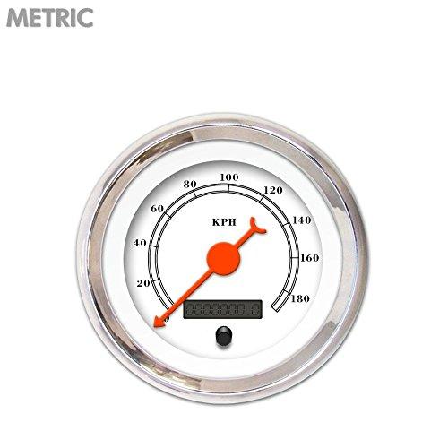 Aurora Instruments (GAR212ZMXHABBH) All American Classic White Speedometer Gauge