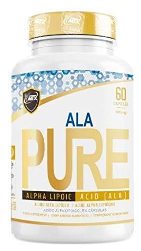 MTX nutrition Ala Pure 60 capsulas - Ácido Alfa Lipoico Premium con poderosos efectos Antioxidantes Liposoluble Fosfolípidos Membrana Celular