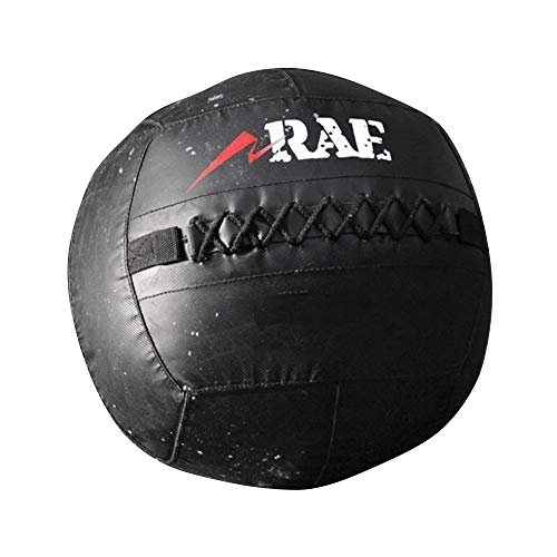 Bola para Treinamento Funcional - Med Ball - Wall Ball de Couro Reforçado 30 lb - Rae Fitness