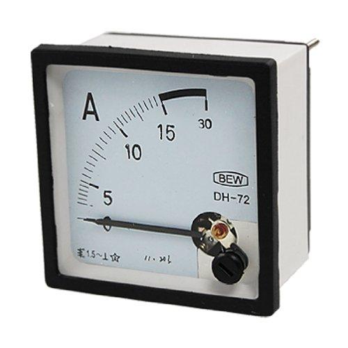 Klasse 1,5Genauigkeit AC 0–15A Analog quadratisch Panel Meter Amperemeter DH72 de