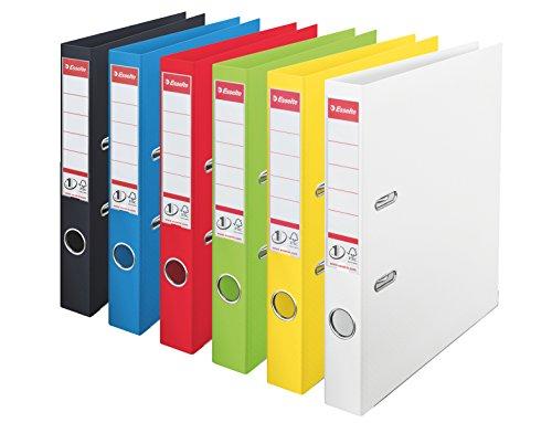 Esselte 624162–Set di 10raccoglitori a leva N ° 1Power in PP 50mm colori assortiti vivida