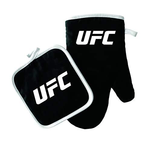 Pro Specialties Group UFC Oven MITT/Pot Holder Logo Black, Black, ONE Size