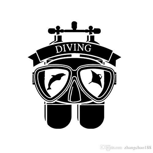 Pegatina Promotion Taucherausrüstung Diving 20cm Autoaufkleber,Wandtattoo, Aufkleber, Waschanlagenfest, Profi-Qualität, Decal,Sticker