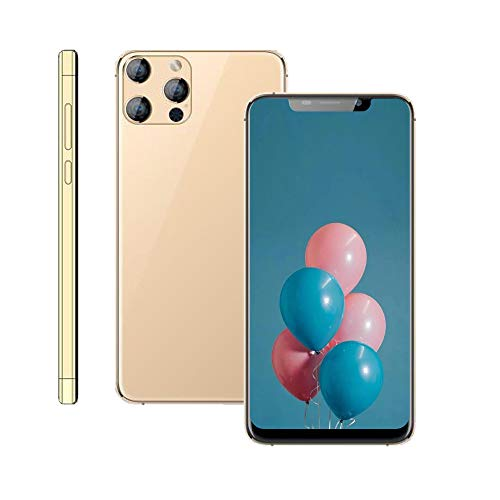 Unlocked Cell Phone,X40 Android Smartphone, 6.11-inch HD+U Nouth Screen, 3GWCDMA : 850/2100MHZ SIM Card Frequency Band,1GB RAM 16GB ROM, 3800mAh,Front Rear Camera (Gold)
