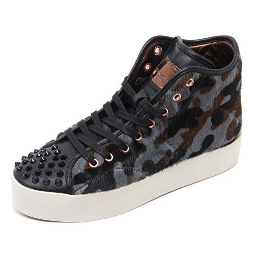 B6682 sneaker alta donna ALEXANDER SMITH LONDON nero/grigio/marrone shoe woman