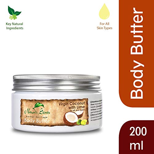 Nature's secrets nourrissante cosmétique, beurre corporel huile de coco + Citron, 200ml