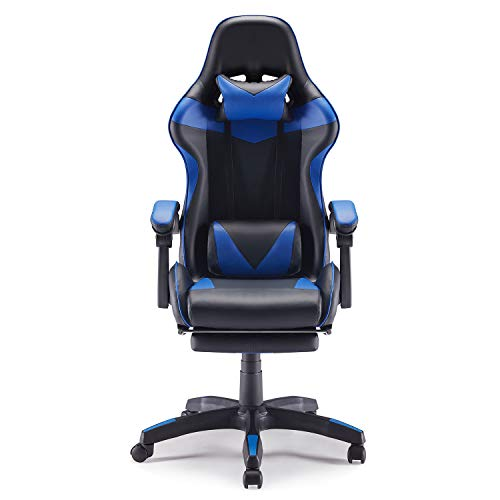Sunon Gaming Chair Adjustable Seat Height High Back Ergonomic Chair with Headrest and Massager Lumbar Support Retractable Footrest...