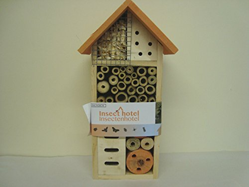 Madabout Pottery And Giftware Jardín Insectos Bee Bug House Hotel Alojamiento casa–Caja Nido para pájaros Burnt Orange