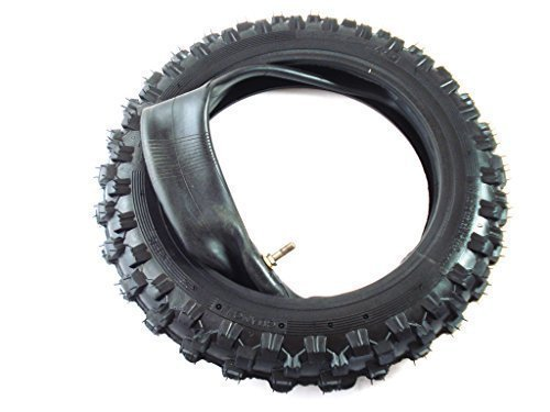 HMParts Dirt Bike/Pit Bike/Mini Cross Reifen - 2.50-10 - Cross Profil - mit Schlauch