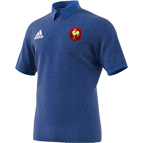 adidas FFR Supporters Maillot Homme, Blue/White/Powred, FR (Taille Fabricant : XL)