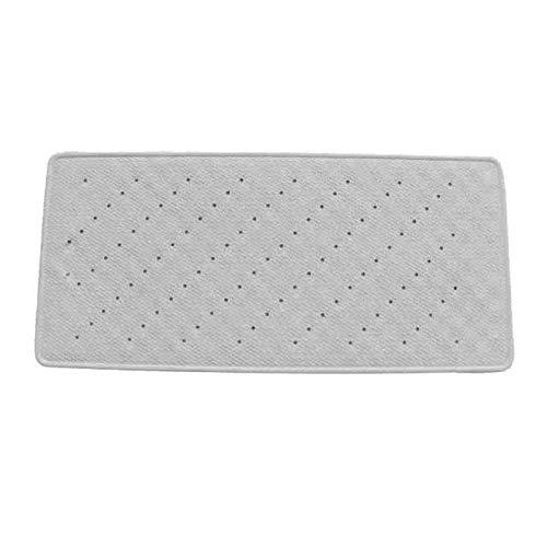 MSV Tapis Caoutchouc Fond de Bain Blanc 35x75, Carbonate de Calcium