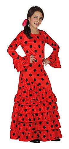 Atosa - Disfraz de flamenca para niña, color rojo, talla XL, 10-12 años (111-26533)