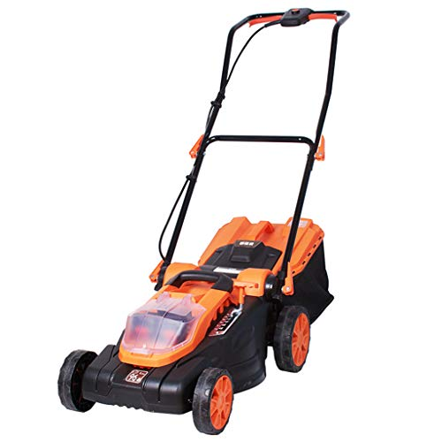 QILIN 36V Lawn Mower, Rechargeable Electric Small Household Hand-Pull Weeder, Cutting Width 38CM, 40L Grass Box, with Battery and Charger
