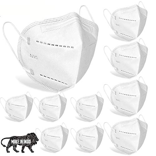 Desidiya® Anti Pollution, Reusable, Non-woven Protective Layer Face Mask (Pack of 10) CE and ISO Certified