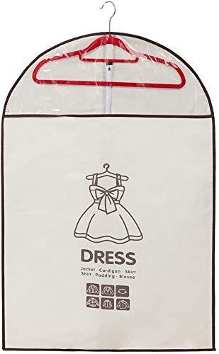 Hinleise Bolsas de ropa no tejidas transpirables a prueba de polvo vestido traje de ropa impermeable chaqueta protectora bolsa de almacenamiento para hombres mujeres Viajes en casa