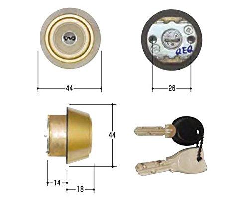 交換用錠前シリンダー MIWA MCY-506