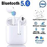 Bluetooth Headset 5.0,écouteurs sans Fil Bluetooth,3D Stéréo HiFi,Microphone intégré,écouteurs Bluetooth IPX5 étanche,couplage Automatique,Compatible avec Samsung/Huawei/iphone/Airpods/Apple